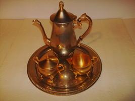 Four Piece Coffee Set - International Silver Company - 99115002G - Gold ... - $39.99