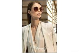 Chopard Round Women Sunglasses SCHC70 08FC  Gold /Brown Lens 60mm - $193.03