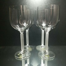 "4 (Four) VINTAGE MIKASA ""Horizon Frosted Stem"" Lead Crystal Water Glasses - $26.59"