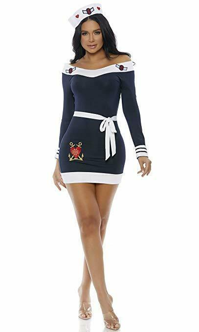 Forplay Beloved Marinaio Capitano Navy Sexy Adulto Donna Halloween Costume