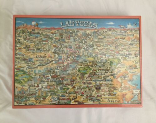 Vintage 1992 Buffalo Games City of Las Vegas Jigsaw Puzzle 513 pcs New Sealed