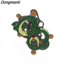 Anime Dragon Ball Shenron Metal enamel Hat pin Brooches Dragon Bag for Badge  ki - $10.99