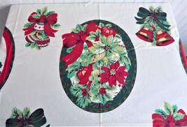 Panel DIY 6 Placemats Christmas Motif Holiday Appliques Wamsutta Hallmark Fabric - $14.00
