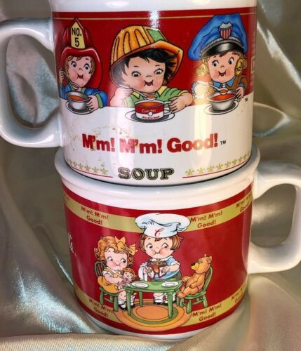 Lot 2 VTG Campbell's Soup Cup/Mugs 1997 Westwood 1998 Houston Harvest Kids