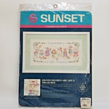 Grandchildren Are Lifes Treasures Counted Cross Stitch Kit 13560 Sunset 1992 - $22.99