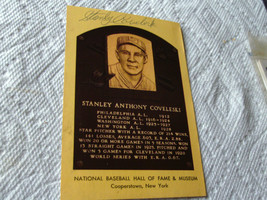 STANLEY  COVELESKI  HAND  SIGNED  AUTOGRAPHED  HALL  OF  FAME  PLAQUE   ... - $19.99