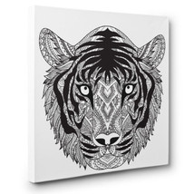 Tiger Head Art Therapy Coloring Canvas Home Decor - £8.97 GBP+