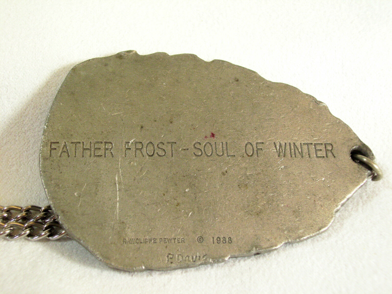 Father Frost Soul of Winter Pewter Pendant Necklace Rawcliffe Artist Signed Big  image 7