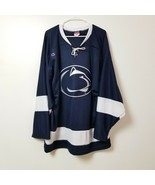 Champion Penn State Nittany Lions Hockey Jersey XL Extra Large Blue Whit... - $46.71
