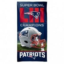"New England Patriots Super Bowl LII Champion Beach Towel 30"" by 60"" WinC... - $32.98"