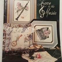 Love is the Music Cross Stitch Leaflet Stoney Creek 1990 Banjo Trumpet P... - $10.99