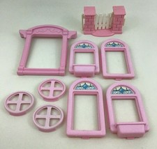 Fisher Price Loving Family Dream Dollhouse Replacement 9pc Lot Pieces 19... - $20.74