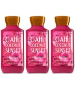Bath & Body Works Oahu Coconut Sunset Body Lotion 8 fl oz Set Of Three B... - $21.65