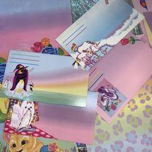 32 Pc Lisa Frank Stationery Raccoons Markie Elephant Bees Stickers Postalette image 3