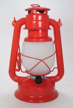 "11"" Realistic Flame Metal Hurricane Lantern w/Timer & Dimmer Battery Operated - $23.71"