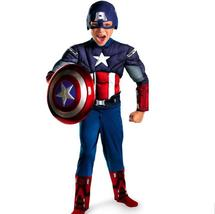 Children Avengers Captain America Muscle Costume Disfraces Halloween Sup... - $27.31