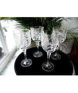 """Set of 4 Fifth Avenue Portico Pattern 7 7/8"""" Tall Crystal Water Goblets - $43.55"""