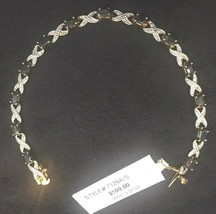 Sterling Silver With Gold Overlay Sapphire Bracelet - NEW Suggested Reta... - $36.29