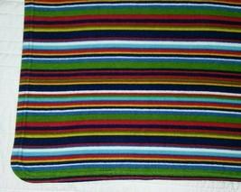 Vtg BABY GAP Fleece Multi-Colored Stripped Blanket Lovey Outlet 30x40 EUC 2001 - $33.96