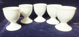 """Egg Cups, 5 Pure White Porcelain 1980's 2 3/8"""" ... - $24.00"""