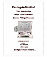 Emerg-A-Dent Deluxe First Aid Emergency Kit by EDK Fillings-Dentures-Crowns - $26.99