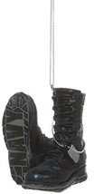 Support Our Troops Military Boot Ornament - Navy - $13.81