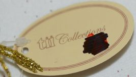 tii Collections G3229 Gold Swirl Tinsel Decorative Feather image 5