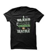I bleed blue and green seattle men black thumbtall