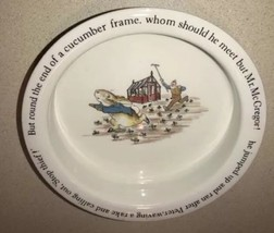 Wedgwood Peter Rabbit Porridge Child Bowl Beatrix Potter Mr McGregor's G... - $23.75