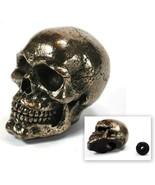 SKULL STICK SHIFT KNOB Gear Bronze Resin NEW Skeleton Goth Lever Car Tru... - $19.95