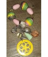 Plunder zendaya's keychain bracelet and unsigned pink charm bracelet - $5.64