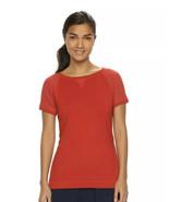 Women's Chaps Sport Mesh Short Sleeve Crewneck Tee Red Size Medium NWT - $10.30
