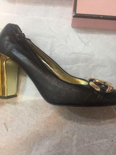 2fdab1f682ca6 9 M black Nappa Gold Rings JUICY COUTURE Mariska High Heels pumps shoes
