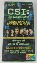 CSI Crime Scene Investigation Crime Game & Booster Pack #1  - $5.89