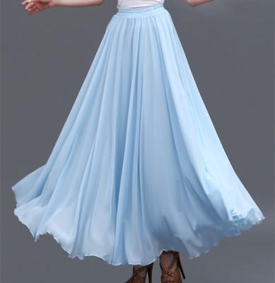 Chiffon skirt light blue