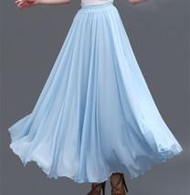 Purple Chiffon Skirt High Waisted Long Chiffon Skirt Wedding Chiffon Skirts image 9