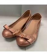 Cole Haan Air Monica Ballet Flats Shoes Size 6.5 B Rose Gold Metallic SO... - $39.57