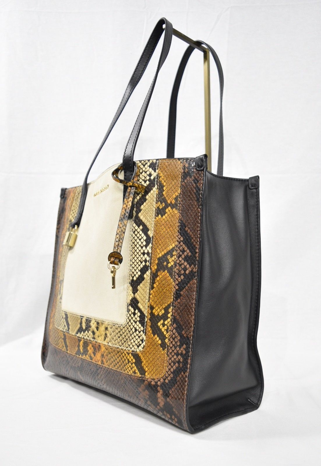 b5c74dfedada MARC By Marc Jacobs M0012901 The Snake Grind Shopper Tote Bag in Papyrus  Multi