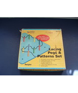 Lacing pegs and patterns set 1990 creative learner Bemiss Jason educatio... - $19.75