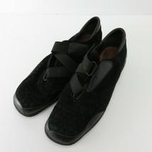 Stuart Weitzman Black leather Adjustable Strap Women's Sneakers Sz 8.5  - $27.50