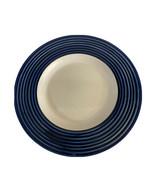 "Gibson Housewares  Cobalt Blue Ribbed Rim Dinner Plate - 11 1/4""  - $4.94"