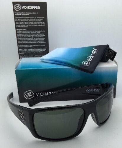 New ETHER Collection VONZIPPER Sunglasses SUPLEX Shiny Black Frame w/Grey Lenses image 3