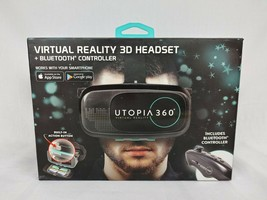 Utopia 360 Virtual Reality 3D Headset + Bluetooth Controller Smartphone VR - £8.87 GBP