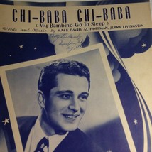 Vintage Sheet Music Chi Baba Chi Baba My Bambino Go To Sleep Perry Como ... - $11.63