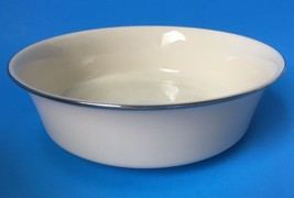 "Lenox Solitaire Round Vegetable Serving Bowl Ivory Platinum Trim 9.25"" - $99.95"