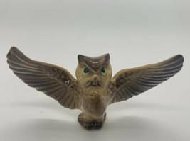 Vintage Hagen Renaker Porcelain Ceramic Miniature Figurine Owl Spread Wings - $8.00