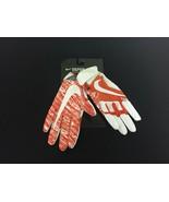 MEN'S NIKE VAPOR JET 4 Skill Gloves Adult S Orange/White Ultra Light #150G - $29.39