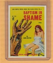 Baptism In Shame by John Dexter promo card book mark GGA pulp fiction sl... - $2.69