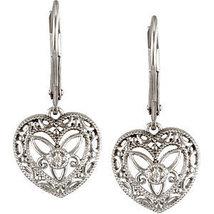 Sterling Silver .02 CTW Diamond Leverback Earrings - $134.99
