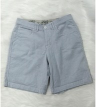 Riders by Lee Womens Shorts 30 Waist Blue White Pinstripe Cotton Casual P5 - $11.04